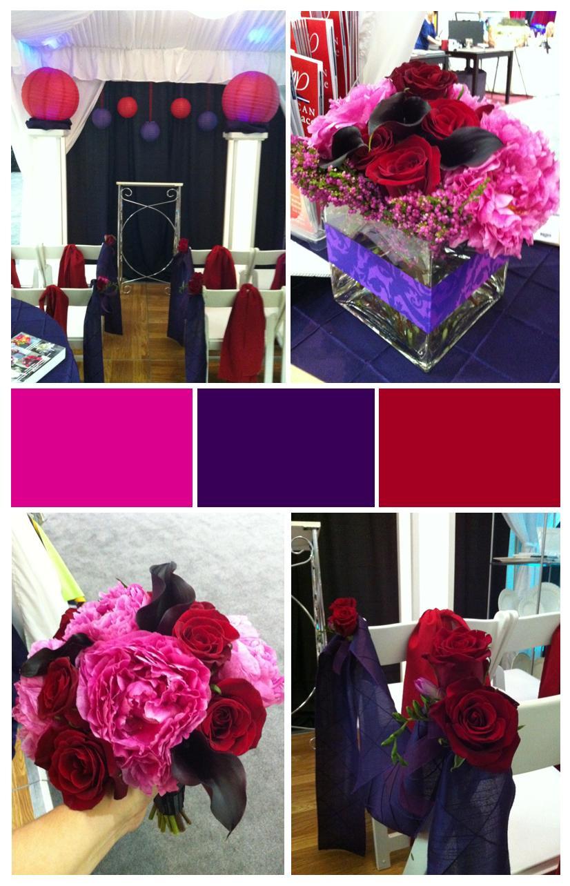 Eggplant, Fuchsia & Red: Wedding Events & Expos | Jen\'s Blossoms Blog