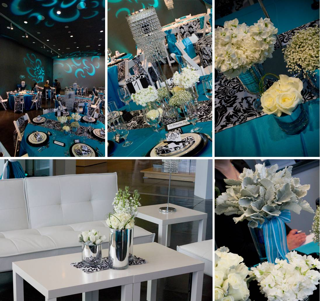 Turquoise Black And White Damask Wedding Decor Wiring Diagrams