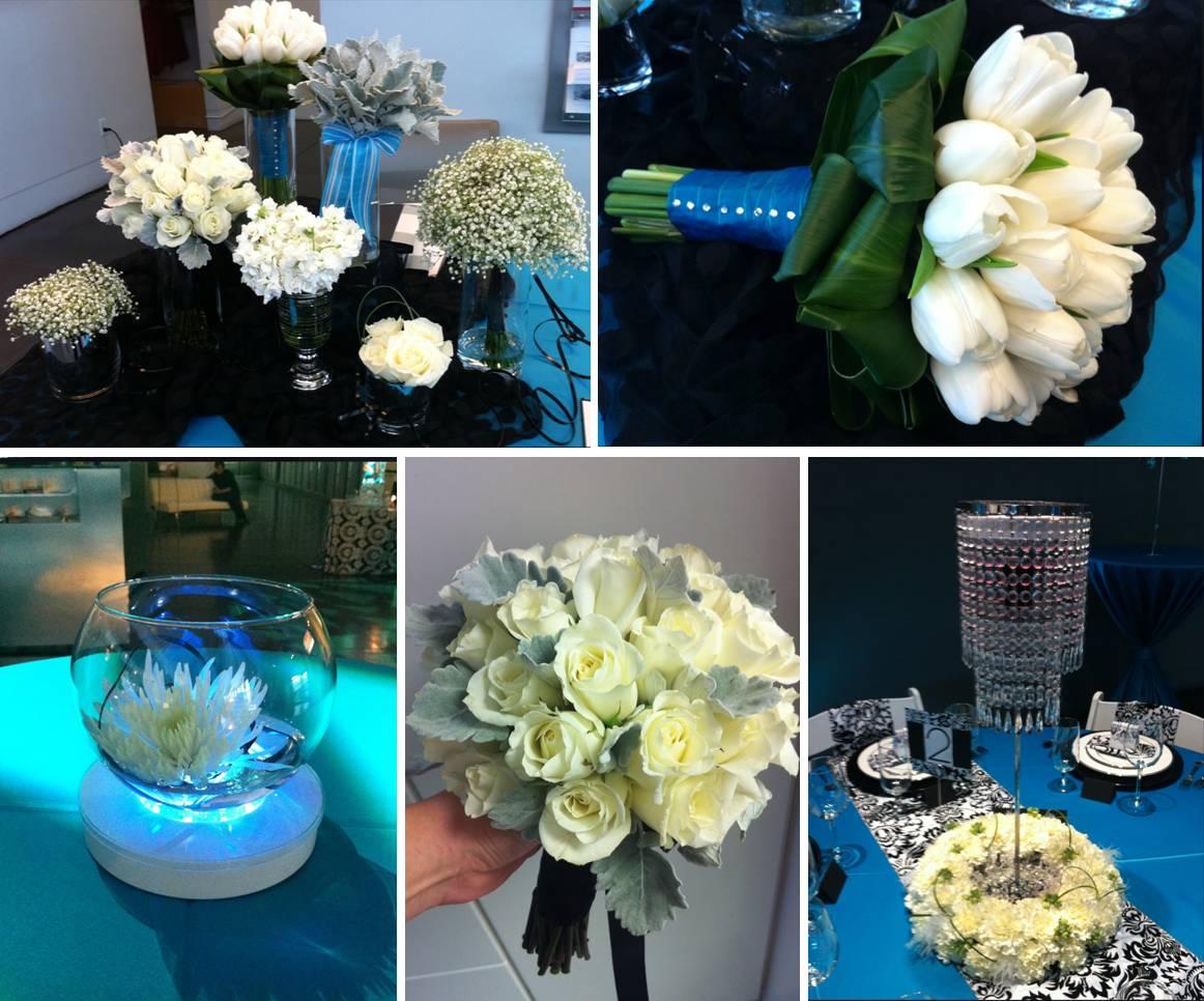 Black and white damask vases sale