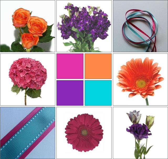 Turquoise Fuchsia Wedding: Turquoise, Fuchsia, Orange & Purple: Real Wedding