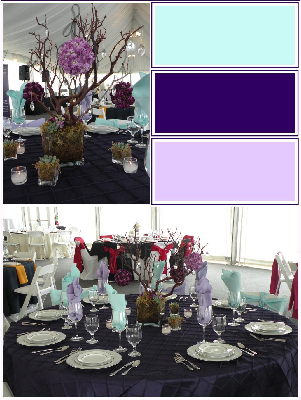 Eggplant Lavender Amp Mint Tabletop Jen S Blossoms Blog
