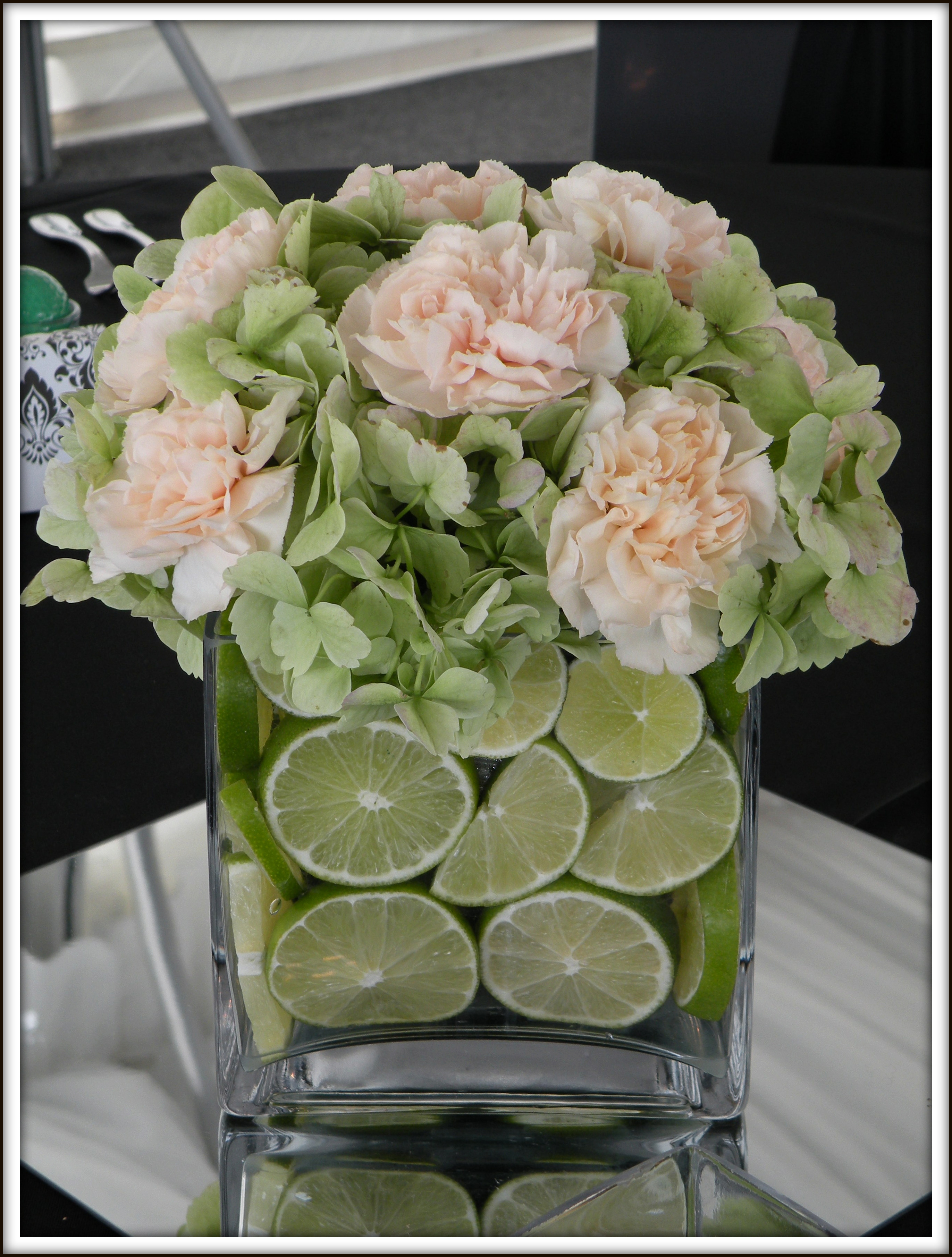Pale Peach, Black & Lots of Limes: A Real Wedding