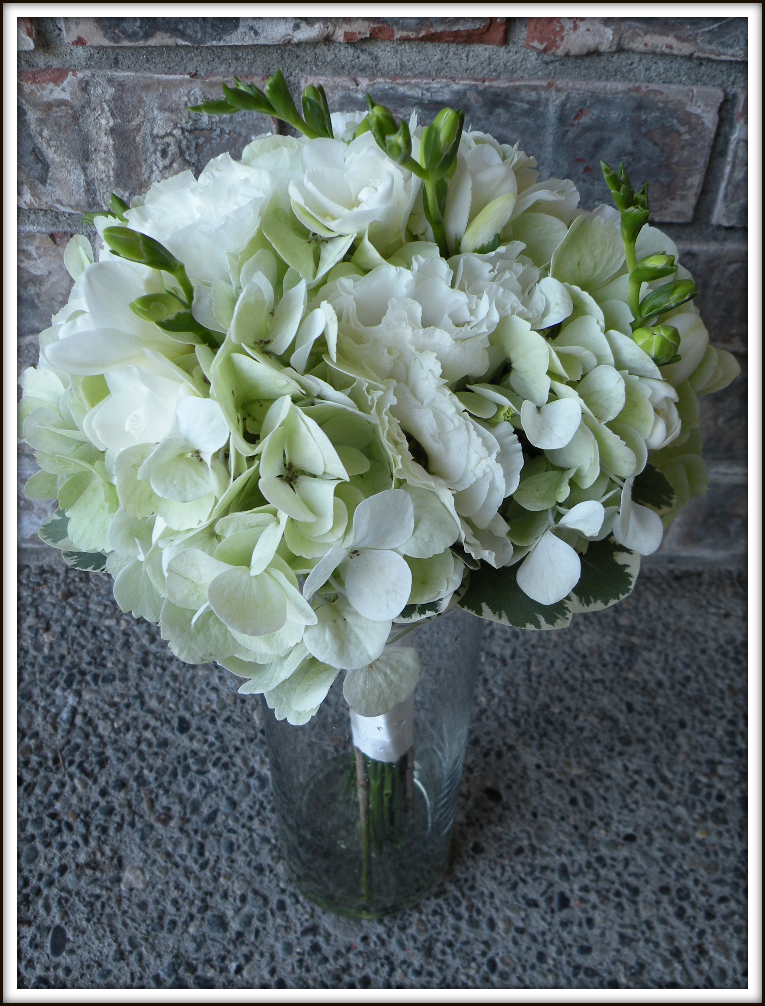 Wedding Flowers With Hydrangea : Hydrangea bouquets mason jar centerpieces a real