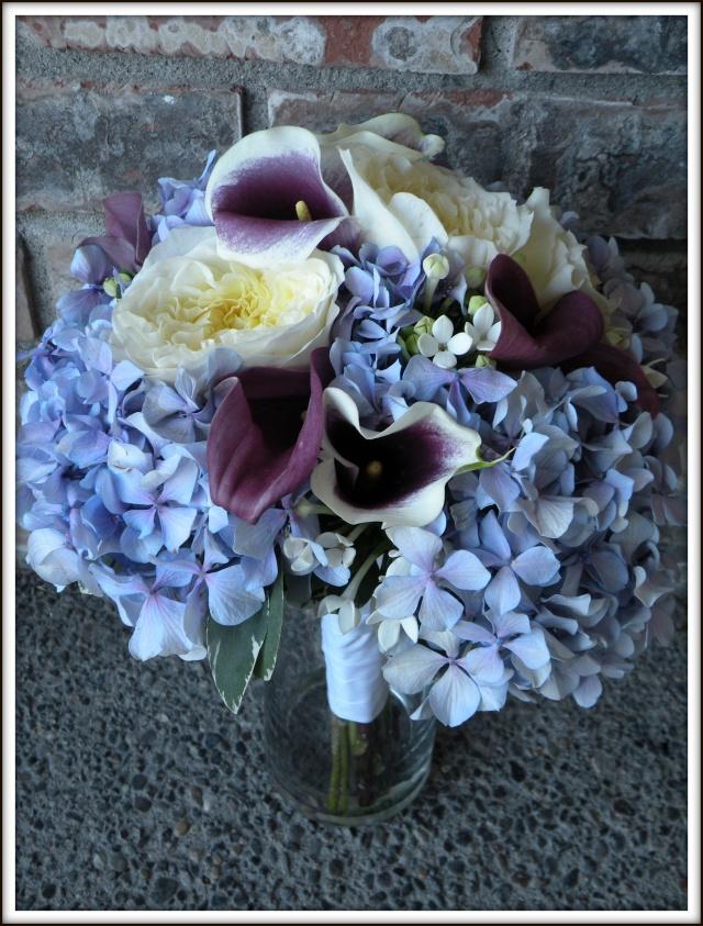 Purple lavender bouquets real wedding jen s blossoms