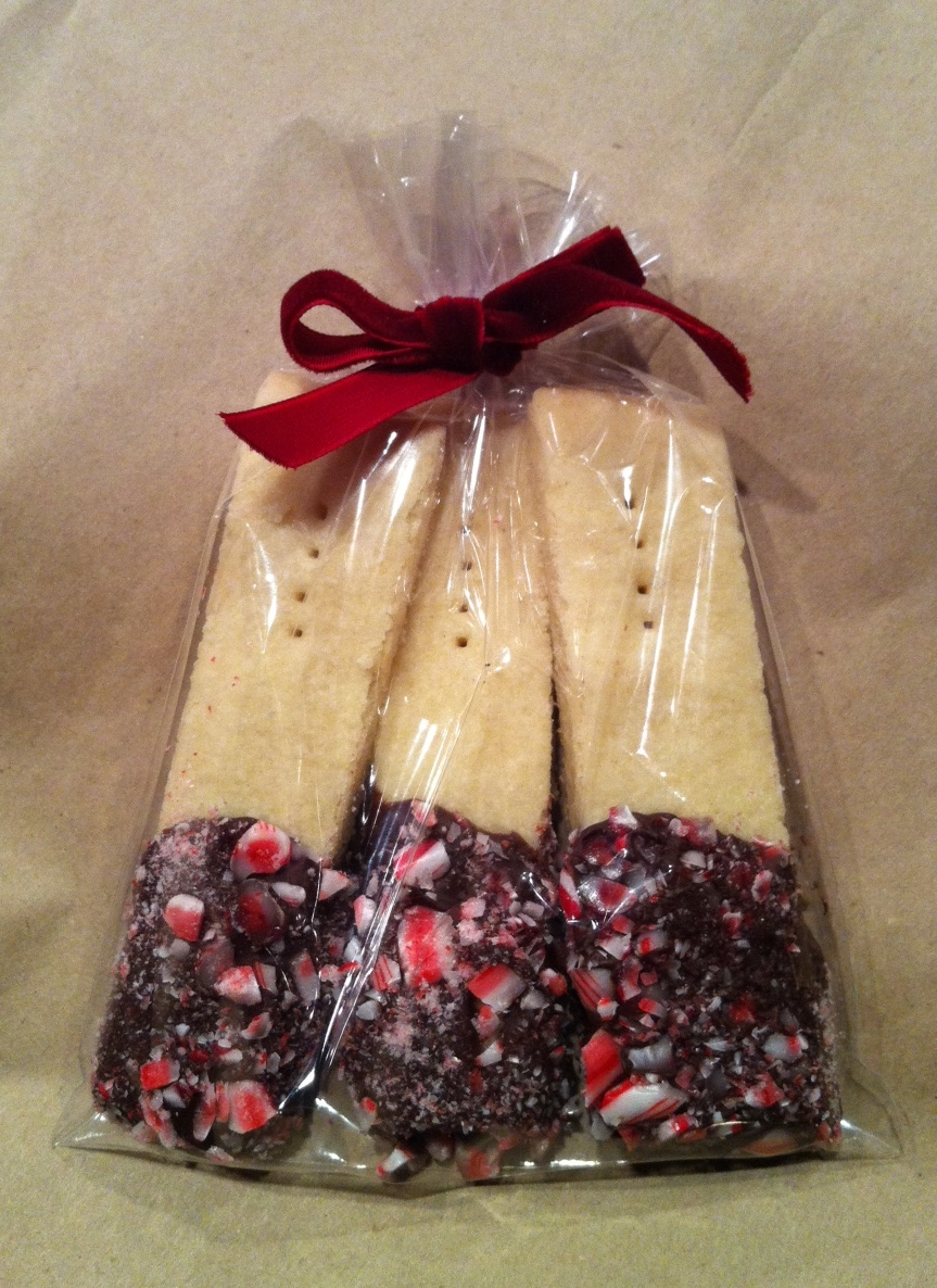 Chocolate Peppermind Dipped Shortbread