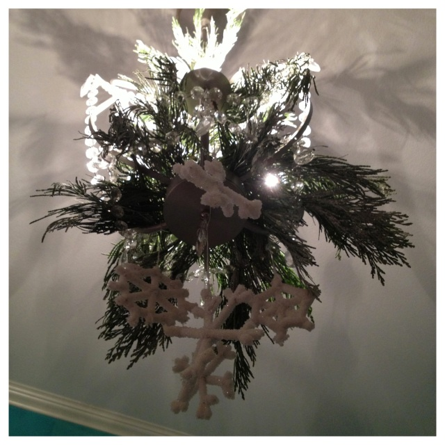 Cedar and Snowflake Chandelier