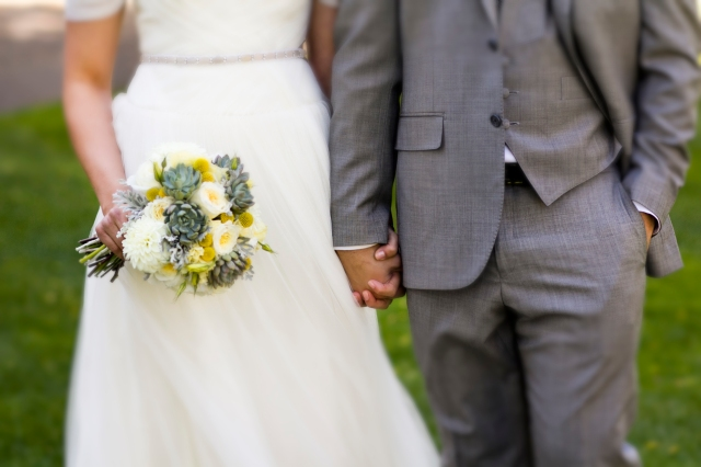 Succulent Bouquet Bride & Groom