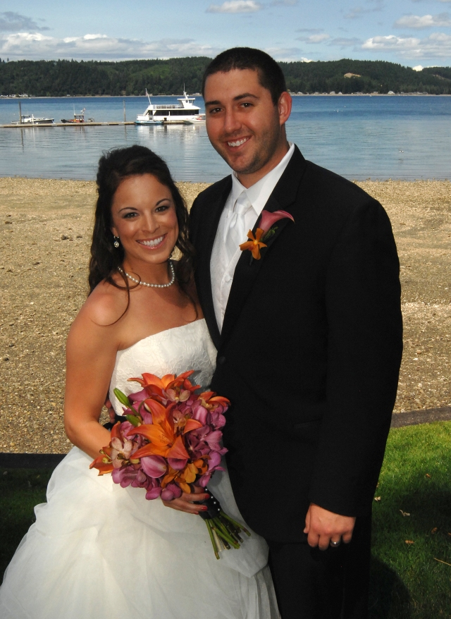 Alderbrook Resort Wedding Couple
