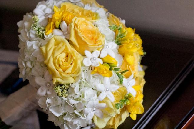 Hydrangea, Rose and Stephanotis Bouquet