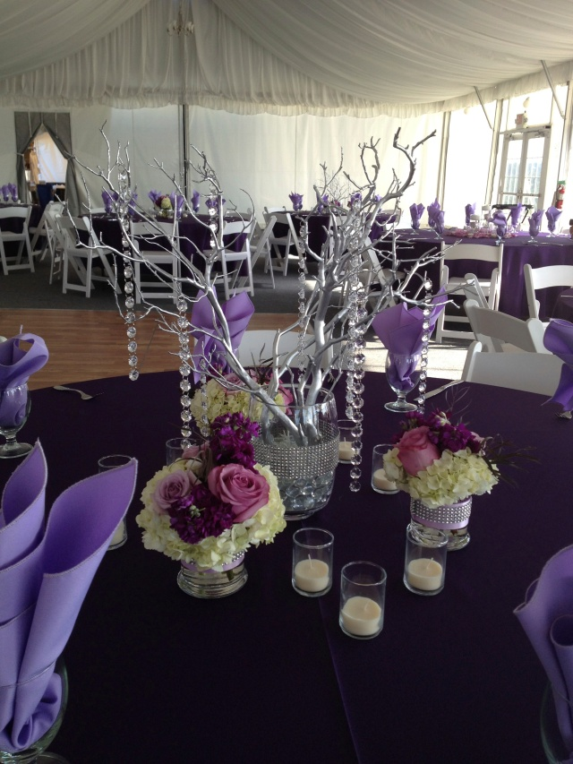 Chambers Bay Purple Wedding