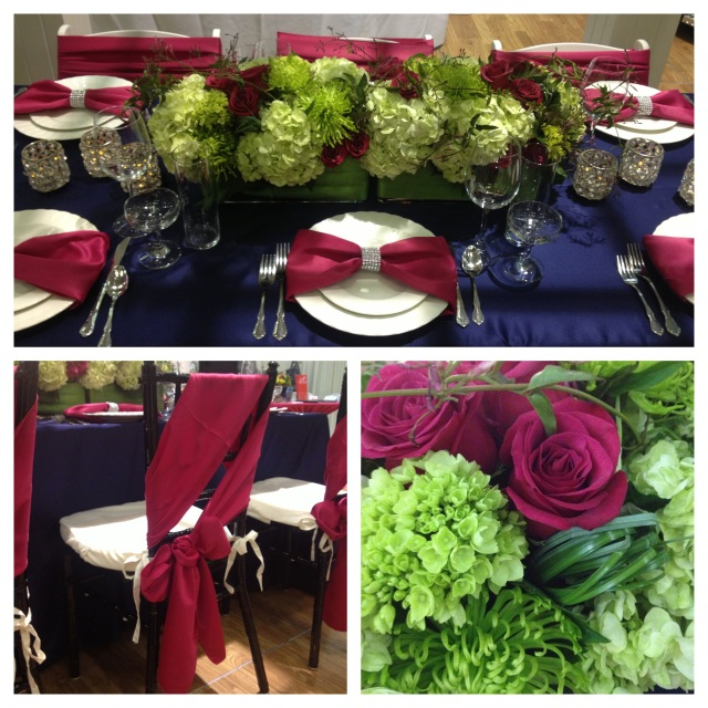 Navy, Apple Green & Fuchsia Tabletop