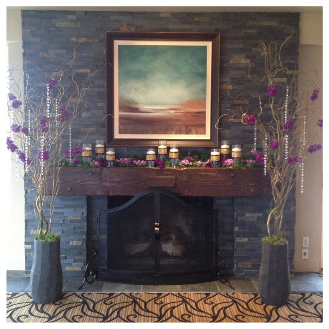 Canterwood Indoor Fireplace Wedding Ceremony