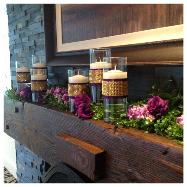 Canterwood Indoor Wedding Mantle Decor