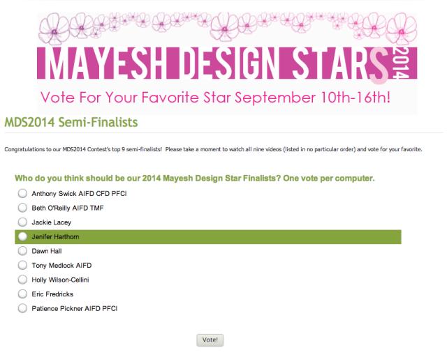 Mayesh Design Star Jenifer Harthorn