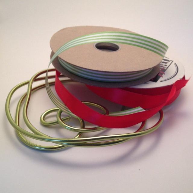 Paper Ribbon Wreath Supplies