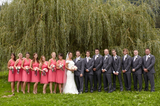 Coral & Gray Wedding at Laurel Creek Manor || photo by Kate Price Photography