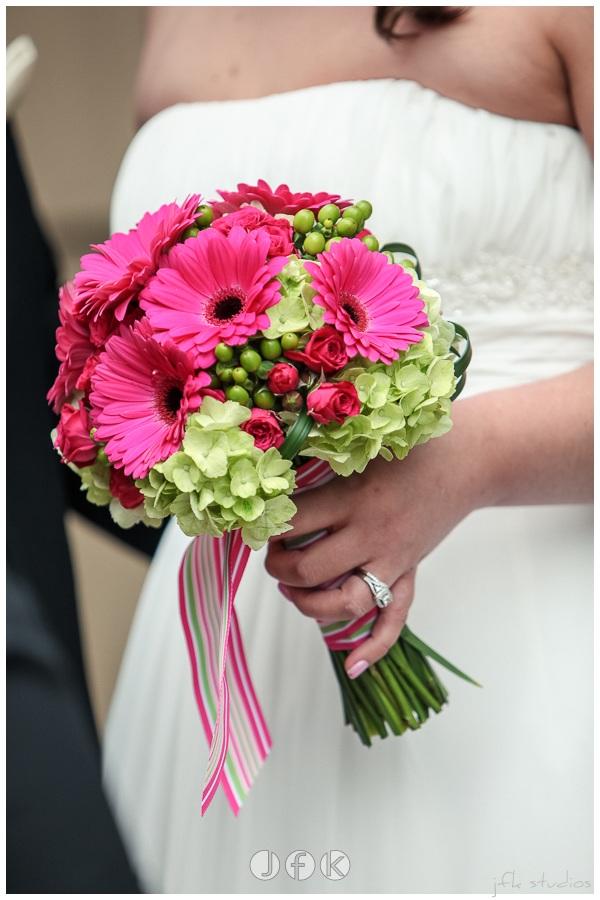 Gerbera Daisy Bridal Bouquet by Jen's Blossoms | photo by JFK Studios