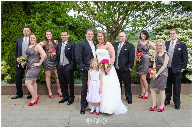 Wedding Party at Lord Hill Farms; photo by JFK Studios   flowers by Jen's Blossoms