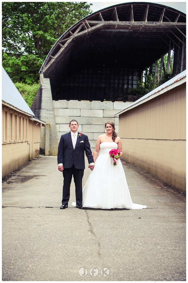 Bride & Groom at Lord Hill Farms; photo by photo by JFK Studios   bouquet by Jen's Blossoms