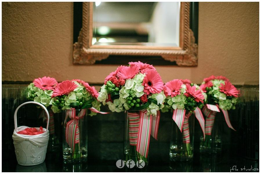 Hot Pink Green Amp Gray Real Wedding Jen S Blossoms Blog