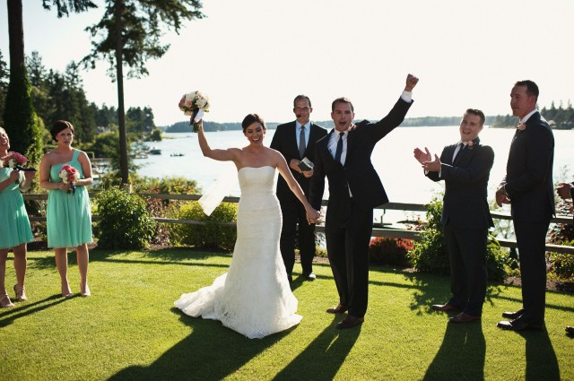 Wedding at Tacoma Country & Golf Club; photo by Jeremy Leffel | flowers by Jen's Blossoms