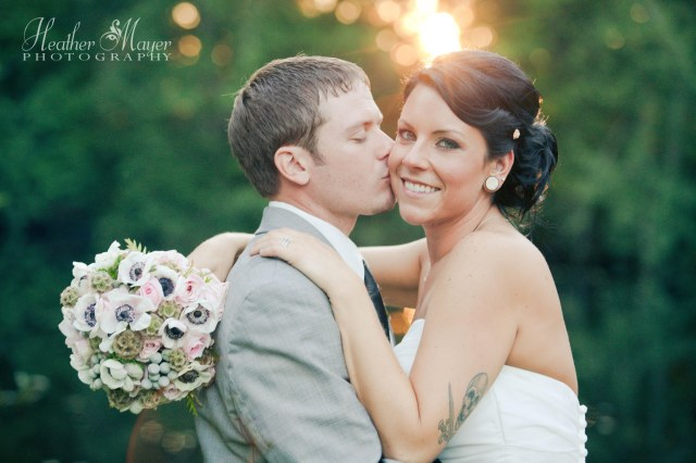 Bride & Groom at Cedar Springs; bouquet by Jen's Blossoms | photo by Heather Mayer Photography