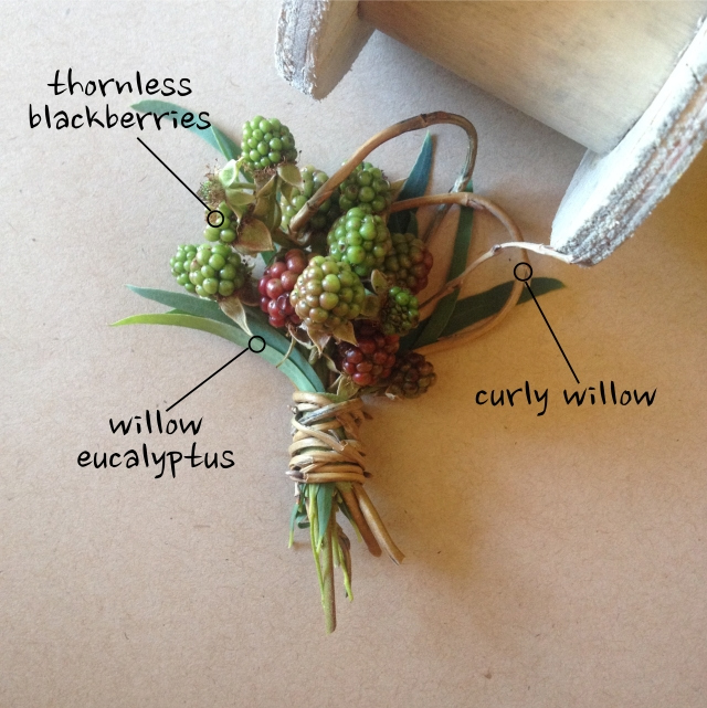 Blackberry Boutonniere by Jen's Blossoms
