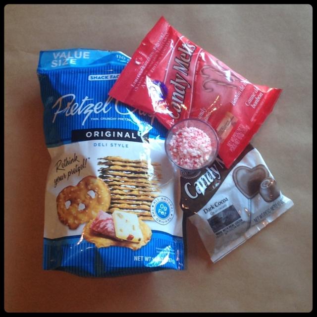 Chocolate & Candy Cane Pretzel Crisp Supplies