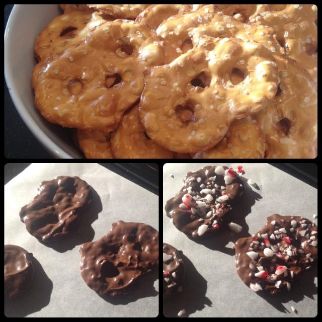 Chocolate Pretzel Crisps Steps