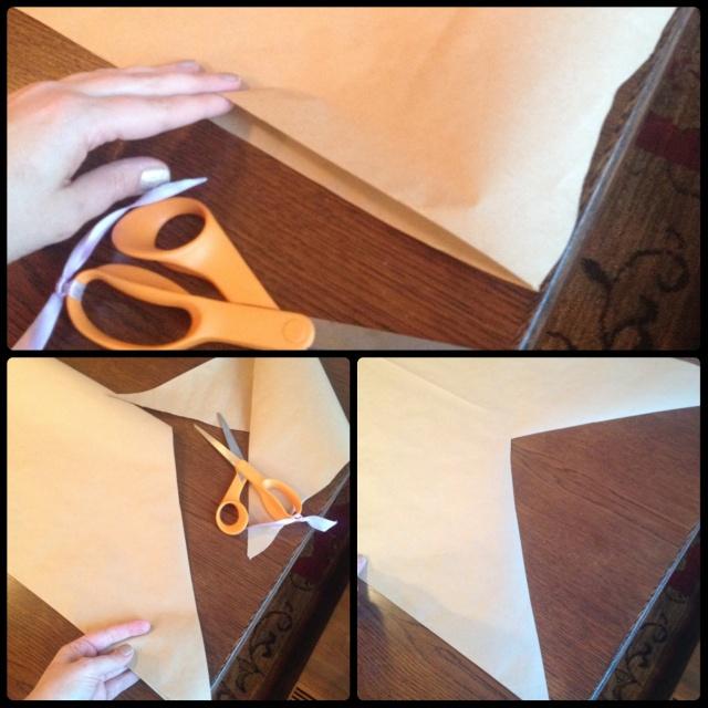 Dotted Kraft Table Runner Steps 1