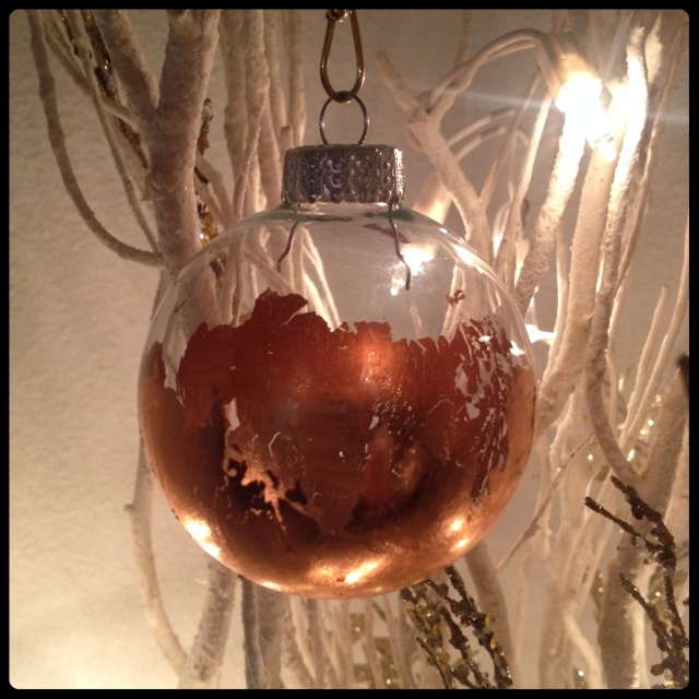 Gilded Ornaments DIY