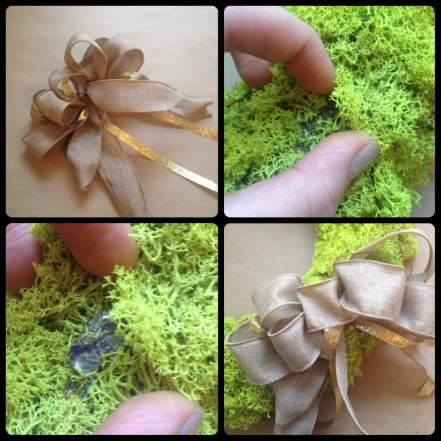 Reindeer Moss Wreath Steps 2