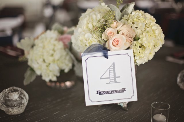 Chambers Bay Wedding Centerpiece || Flowers By: Jen's Blossoms || Photo By: Lloyd Photographers