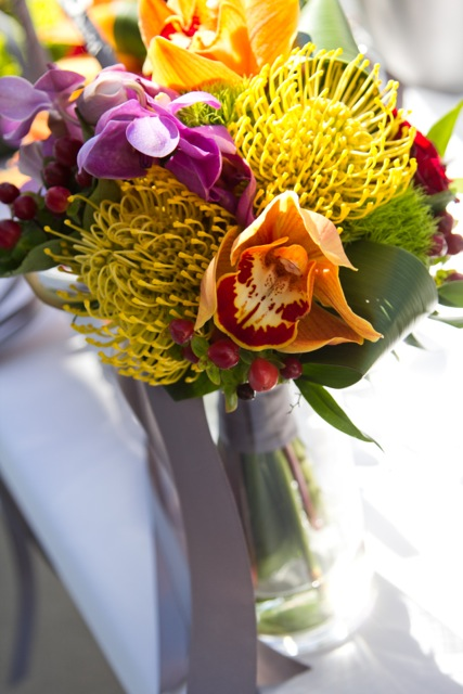 Tropical bouquet || Flowers by Jen's Blossoms || Photo by: Tasha Owen Photography