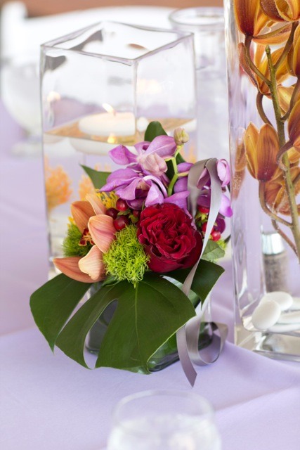 Tropical Centerpiece || Flowers by Jen's Blossoms || Photo by: Tasha Owen Photography