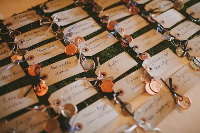 Custom stamped wine markers || Flowers, Design & Planning by Jen's Blossoms || Photo by: Shelby Brakken Photography
