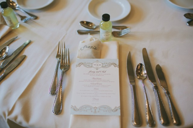 Place Setting || Flowers, Design & Planning by Jen's Blossoms || Photo by: Shelby Brakken Photography