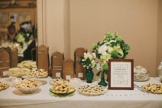 Traditional Italian Cookie Table || Flowers, Design & Planning by Jen's Blossoms || Photo by: Shelby Brakken Photography