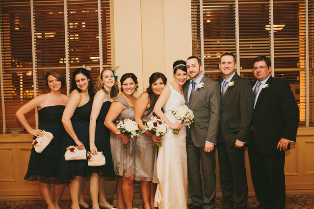 Wedding Party at The Arctic Club Seattle || Flowers, Design & Planning by Jen's Blossoms || Photo by: Shelby Brakken Photography