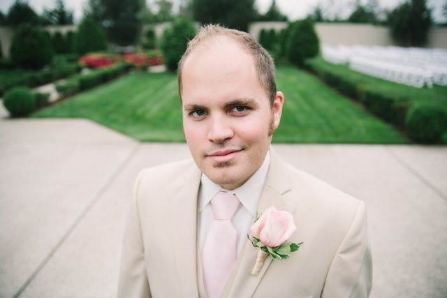 Light Pink Rose Boutonniere by Jen's Blossoms || photo by: http://nicoleschauer.pass.us/shineflew-flowers